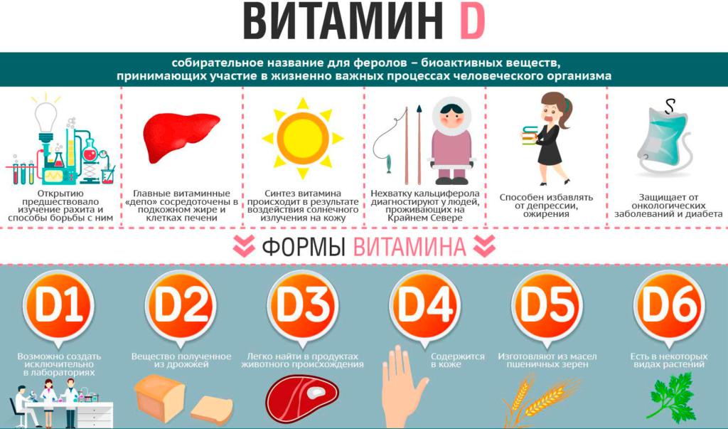 инфографика витамин D