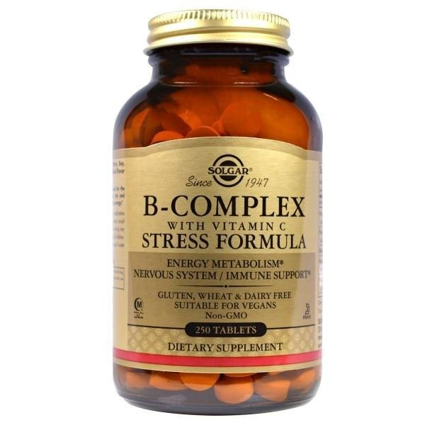 B Complex with vitamin C (Стресс формула) от Солгар 1