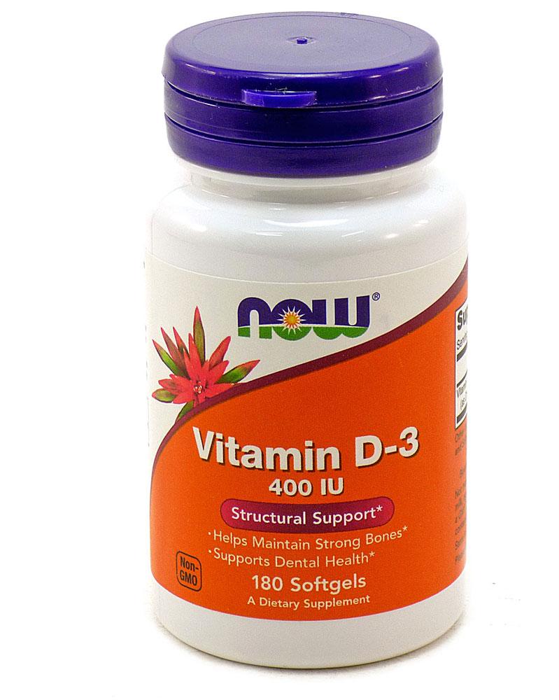 Now Foods – Витамин D-3